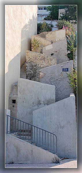 Les escaliers du Roucas Blanc.