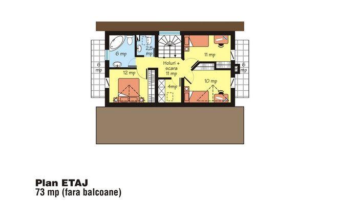 case mici cu trei dormitoare Small three bedroom house plans 9