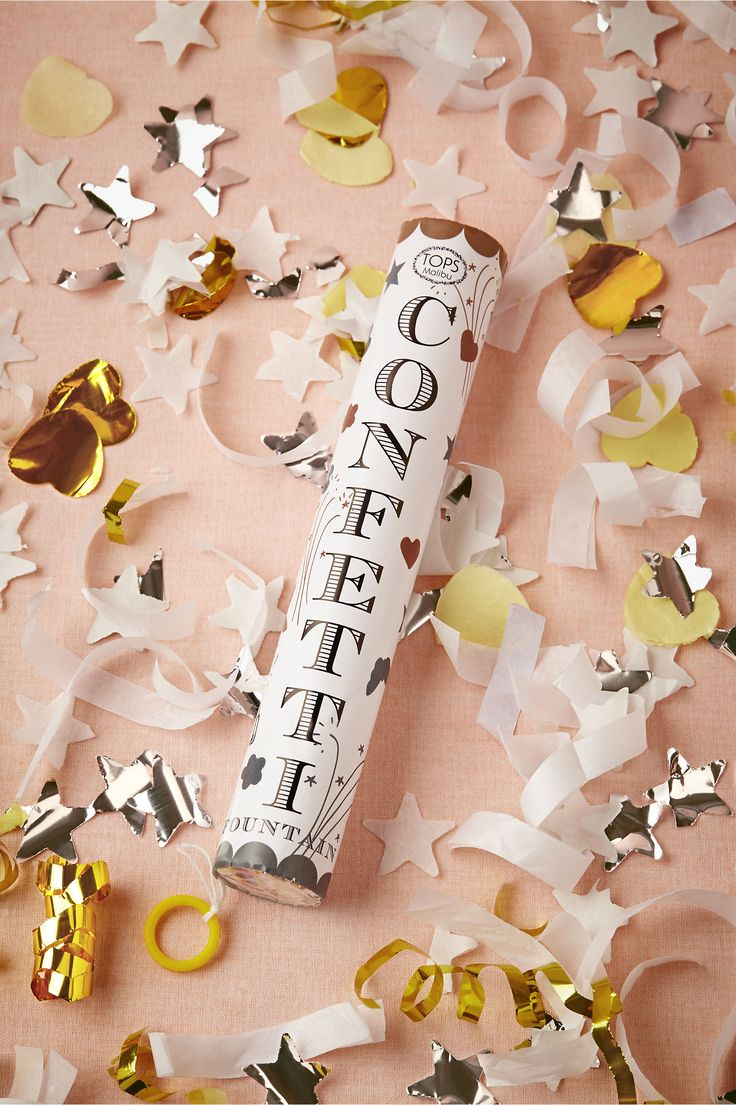 Forever Confetti Popper from BHLDN...use this for New Years