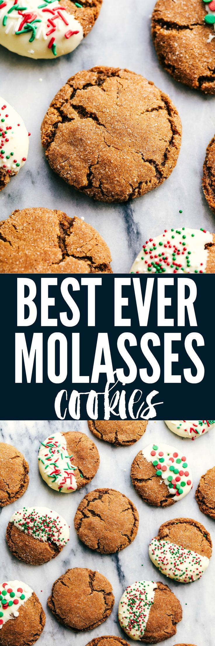 Best Ever Molasses Cookies have a slightly crisp sugar coated edge and a soft and chewy center. These are the perfect holiday cookie!