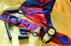 Superhero Utility Belt & Mask. Complete your children's superhero look with the superhero utility belt and mask. Encourage their imagination by creating this fun kids sewing project. With this free sewing pattern for kids by Maureen Wilson, making their superhero dreams come true is a breeze. You'll be hard pressed to find a child who doesn't want to save the world in this special costume. You can watch a video tutorial for these projects at the bottom of this page.