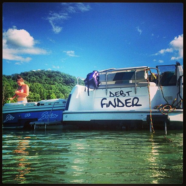 Boat life..boat names are fun to read