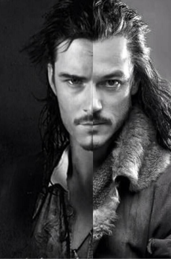 Bard the bowman from The Hobbit and Will Turner (Orlando Bloom/Legolas) from Pirates of the Caribbean