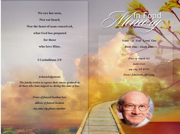 15 best free funeral program images on Pinterest Christmas - free funeral program templates download