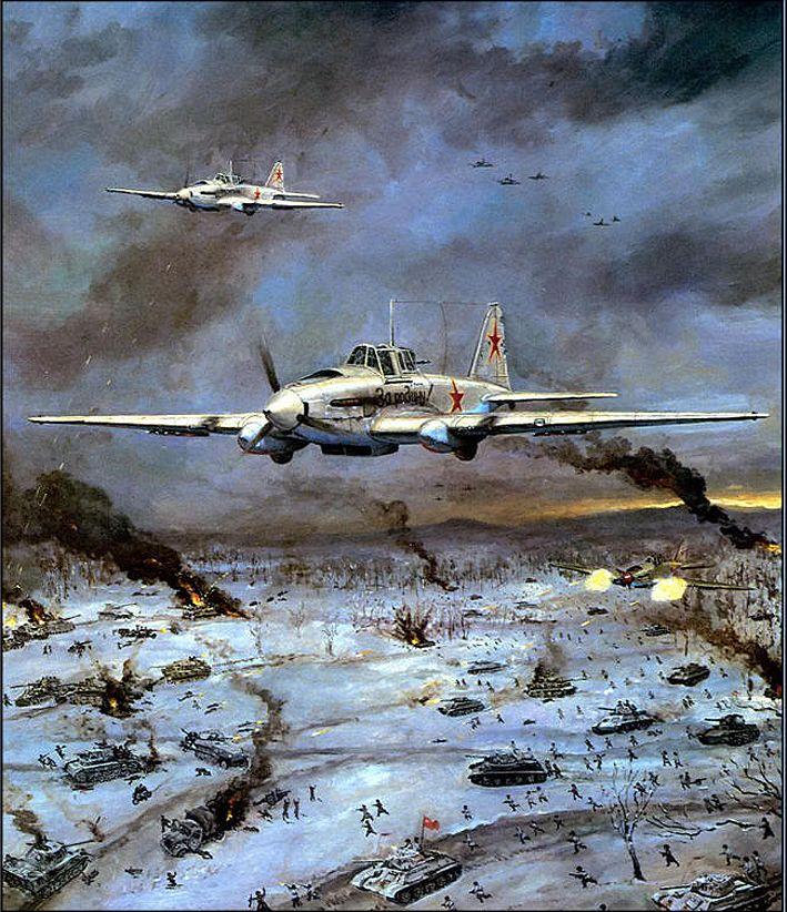 "Legendary Soviet Air Force Ilyushin IL-2 ""Shturmoviks"" during World War II"