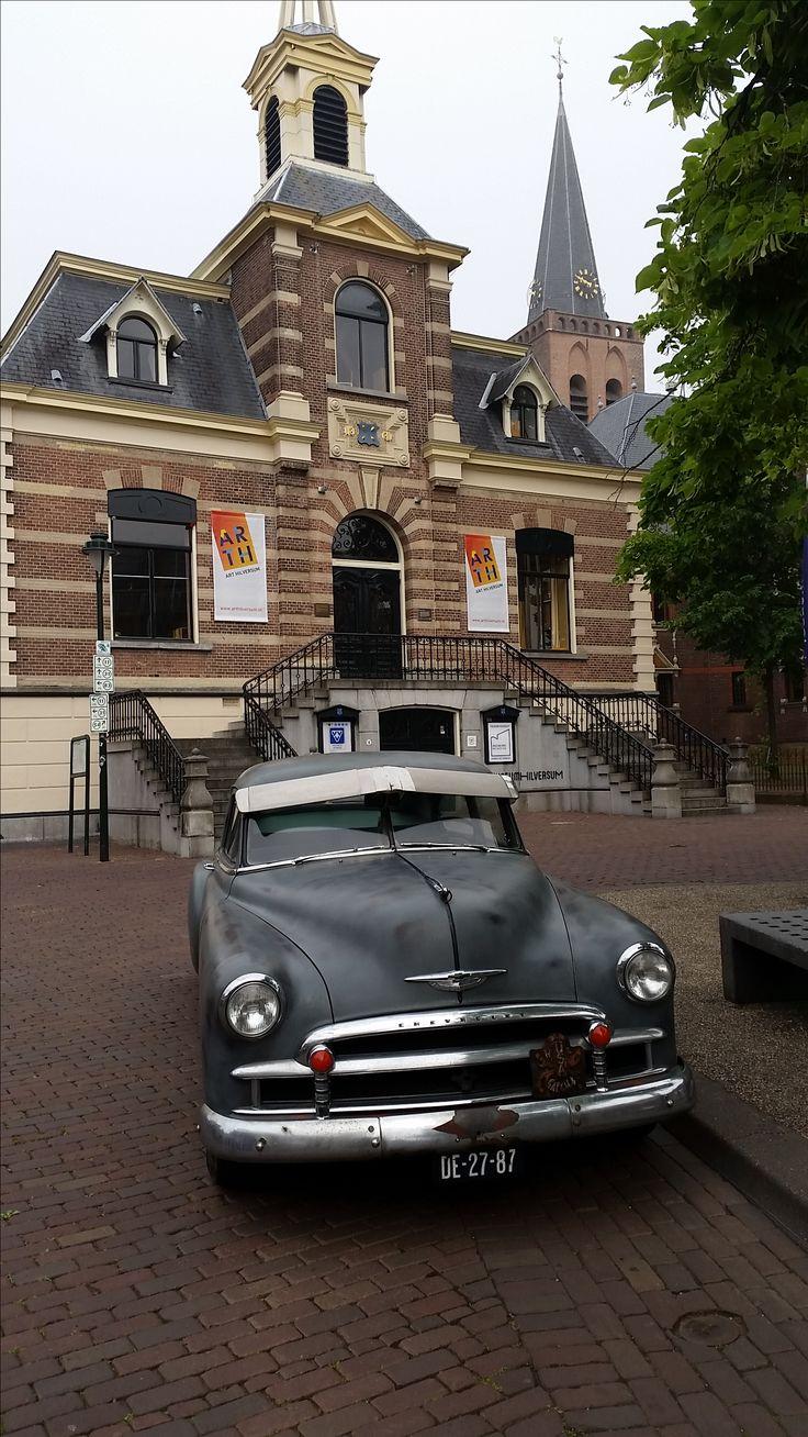 1950 chevy fleetline in front of museum hilversum holland