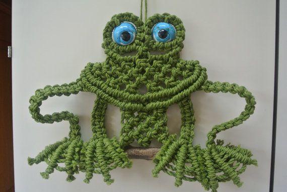 Macrame Frog Wall Hanging Art Pinterest Macrame