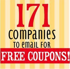 The Binder Ladies - Saving you more so you can spend less! Reviews, Giveaways, Coupons & More!: 171 Companies to Email For Coupons & Free Products!