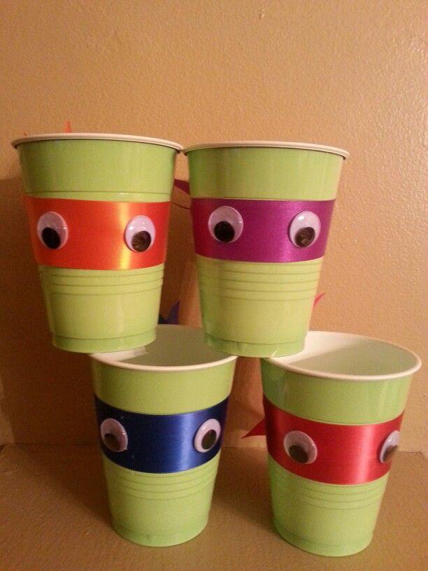 DIY Teenage Mutant Ninja Turtle party cups