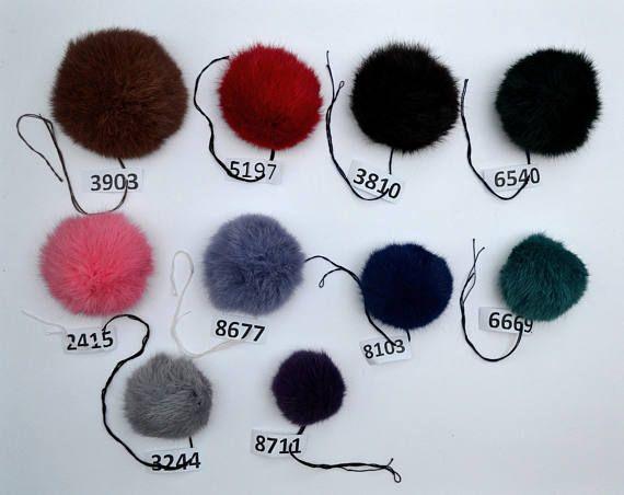 2-4 FUR POM POM Rabbit Pom Pom Fur Pompom Rabbit Fur