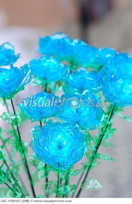 plastic bottle flower | ... flower handmade make modern no people plastic…