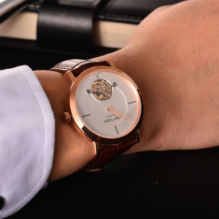 188.00$  Watch more here  - Tiger Reef luxury brand leather watch Tourbillon mechanical automatic watches for men Sapphire glass mirror relogio masculino