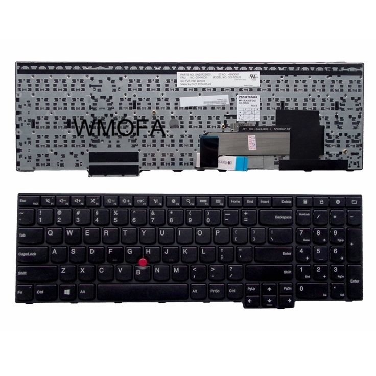 US Black New English Replace laptop keyboard For IBM For Thinkpad E550 E555 E550C With pointing sticks