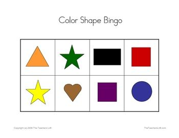 Our printable Bingo Games are a great way to supplement the lessons in your classroom.  The Color Shape Bingo Game helps your students practice ide...: Printable Colors, Language Art, Bingo Games, Birthday Party Games, Identifi Colors, Shape Bingo, Colors Shape, Kindergarten, Free Bingo Printable Shape