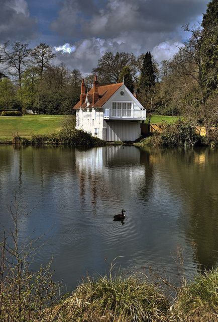 Virginia Water view | cottages | Pinterest | Cottage, Lake cottage and House