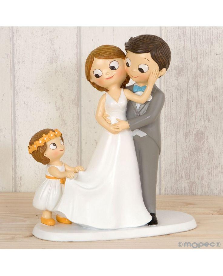 #Figura para tarta de novios con niños adaptables de la firma Mopec