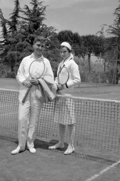 Audrey and her brother, Jan Quarles Van Ufford, Rome 1958.