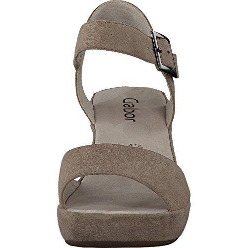 Gabor Fashion Damenschuhe 45.751.53 Damen Sandalette Sandale Leder (Wildleder) Grau (visone(ohne Strass), EU 40 - http://on-line-kaufen.de/gabor/6-5-uk-gabor-fashion-damenschuhe-45-751-damen-2