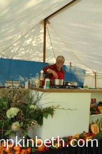 Rosemary Moon giving a cookery demonstration at West Dean