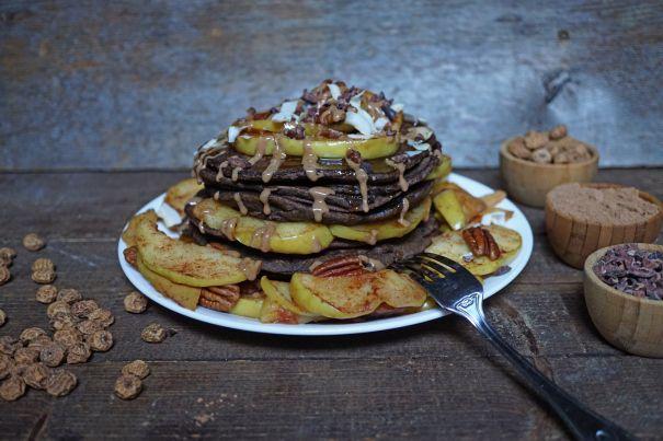 Fit Gluten-Free Vegan Chocolate Maca Pancakes With Tigernut Flour   Breakfast Criminals