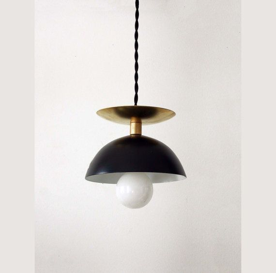 This modern black and gold ceiling pendant lamp is a unique design piece handmade and handcrafted with sustainable materials. Good for our planet. Attractive and fun will provide you both practical use and the illusion of spaciousness. It will make a great center piece for your modern home or traditional decor. As well, it will add lovely charm to your table, bedroom, kitchen, foyer or office desk. All electrical components are UL listed, professional installation recommended.  Pendant…