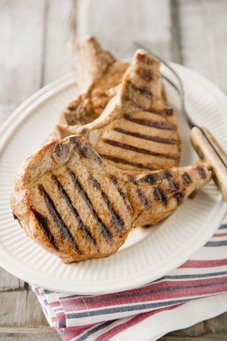 Kentucky Colonel Barbecue Pork Chops http://www.pauladeen.com/kentucky-colonel-barbecue-pork-chops