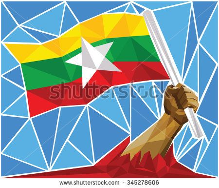Stock Vector Illustration: Patriotic Powerful Man Arm Raising The National Flag Of Myanmar  Image ID:345278606 Copyright: Craitza Available in high-resolution and several sizes to fit the needs of your project. DOWNLOAD: http://www.shutterstock.com/pic-345278606/stock-vector-patriotic-powerful-man-arm-raising-the-national-flag-of-myanmar.html?rid=501709