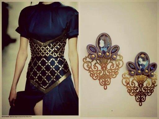 "Soutache earrings ""sapphire"" #soutache #simona #rotaris"