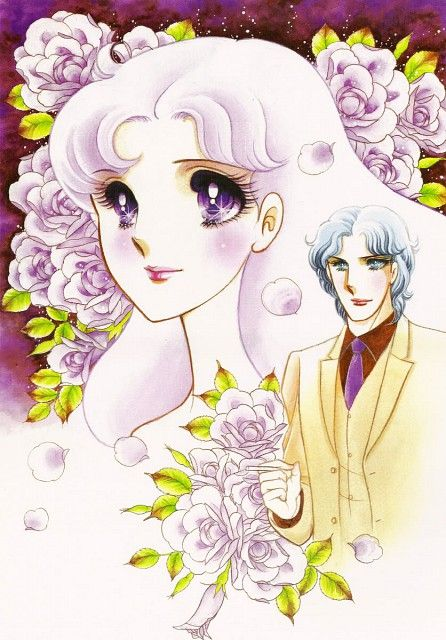 "Maya Kitajima & Masumi Hayami from ""Glass Mask"" series by manga artist Suzue Miuchi."