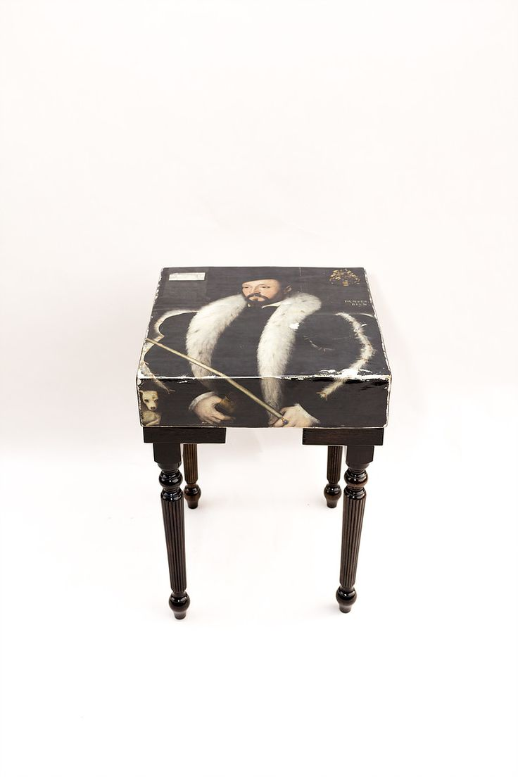 William Wentworth Side Table - Jacobean finish, fluted legs.