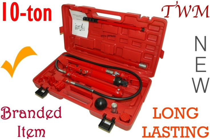 Porta Power 10-ton + kit & case, Long Lasting