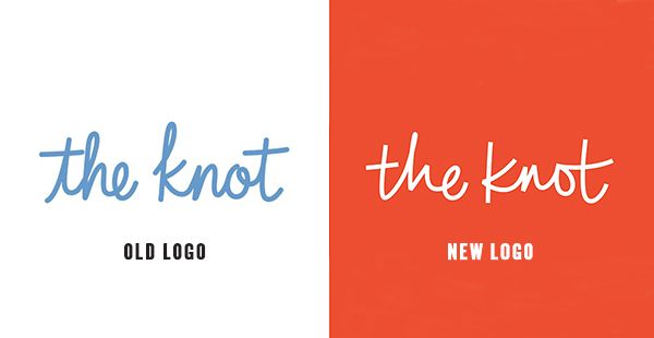 A New Chapter For The Knot Articles Logolounge Evolution Of The Logo For The Wedding Planning App The Knot Featur New Chapter Lettering Design Typography