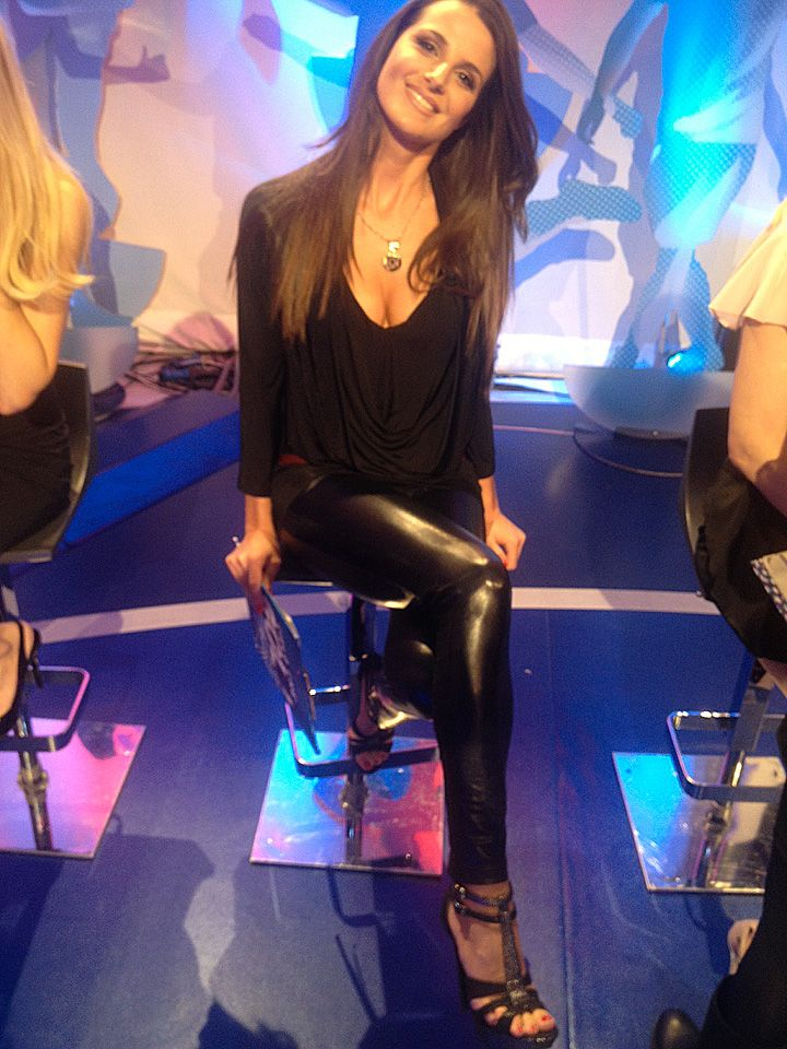 "Cristina De Pin with Michela Rigucci Luxury Shoes on ""Cielo che Goal"" - Sky TV"