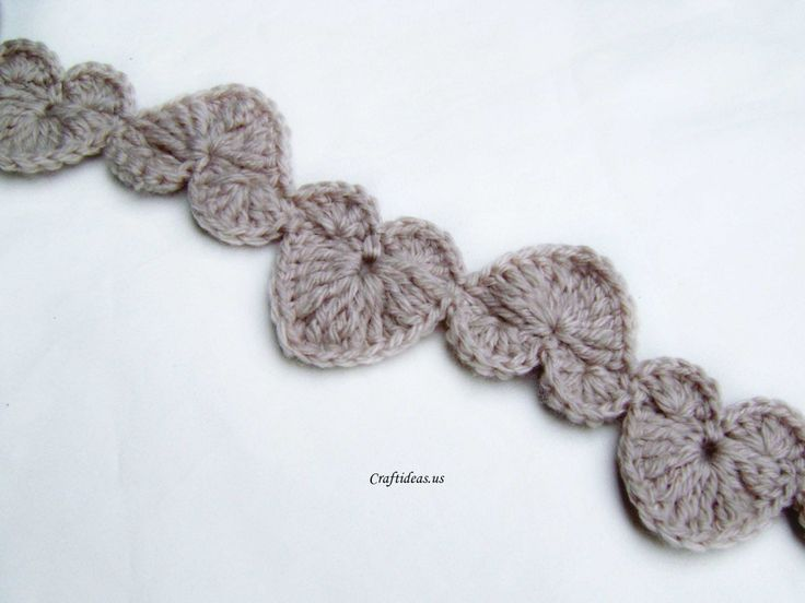 Valentine craft ideas: Crochet String Of Hearts Scarf - Craft Ideas - Crafts for Kids - HobbyCraft