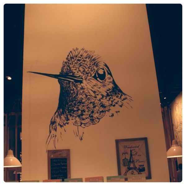 Hummingbird Eatery Mural, Jakarta by Untitled Wall Project, via Behance