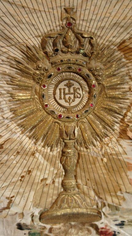 ANTIQUARIATO GOGNASRL: Stendardo in seta ricamata con filigrana d'oro e filigrana d'argento -1249043 0