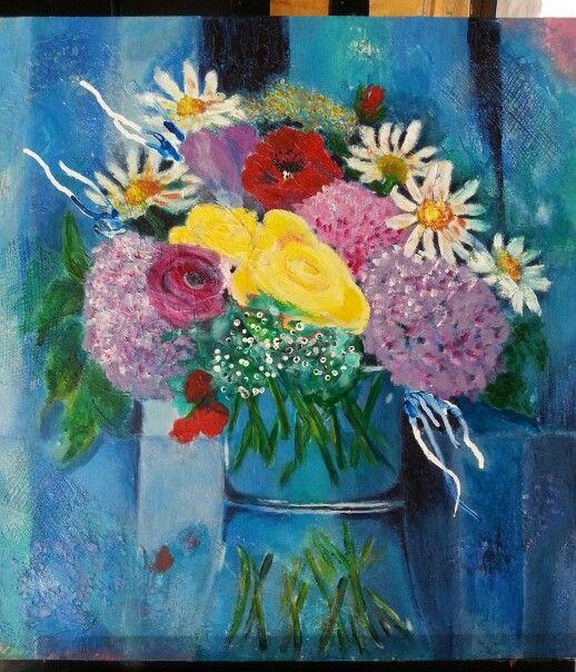 Flower fun - mixed media