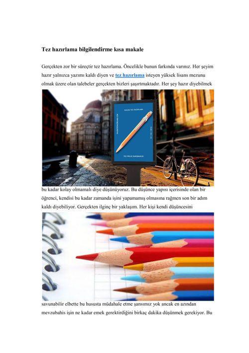 FlipSnack | Tez bilgilendirme by kalem