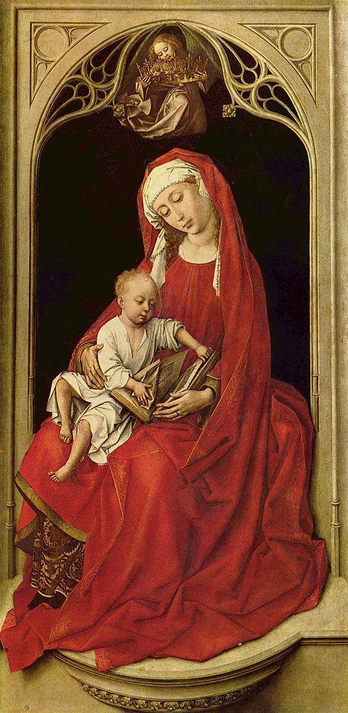 Rogier van der Weyden (1399 — 1464). Мадонна с младенцем.