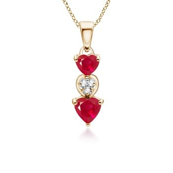 Angara Dangle Ruby Necklace in Rose Gold - July Birthstone Necklace hEjdt