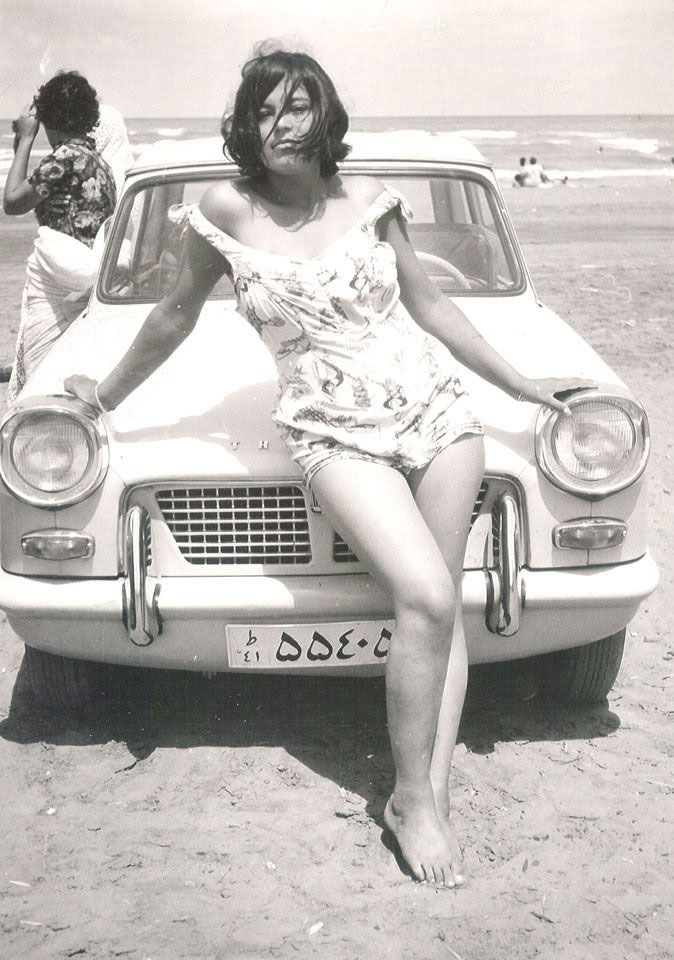 Iranian woman in the era before the Islamic revolution by Ayatollah Khomeini, 1960
