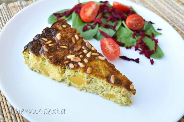Thermobexta's Caramelised Onion, Pumpkin & Haloumi Frittata