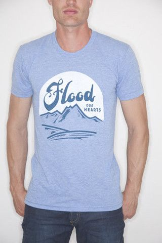 Blue Flood our Hearts T-Shirt#causeshirts