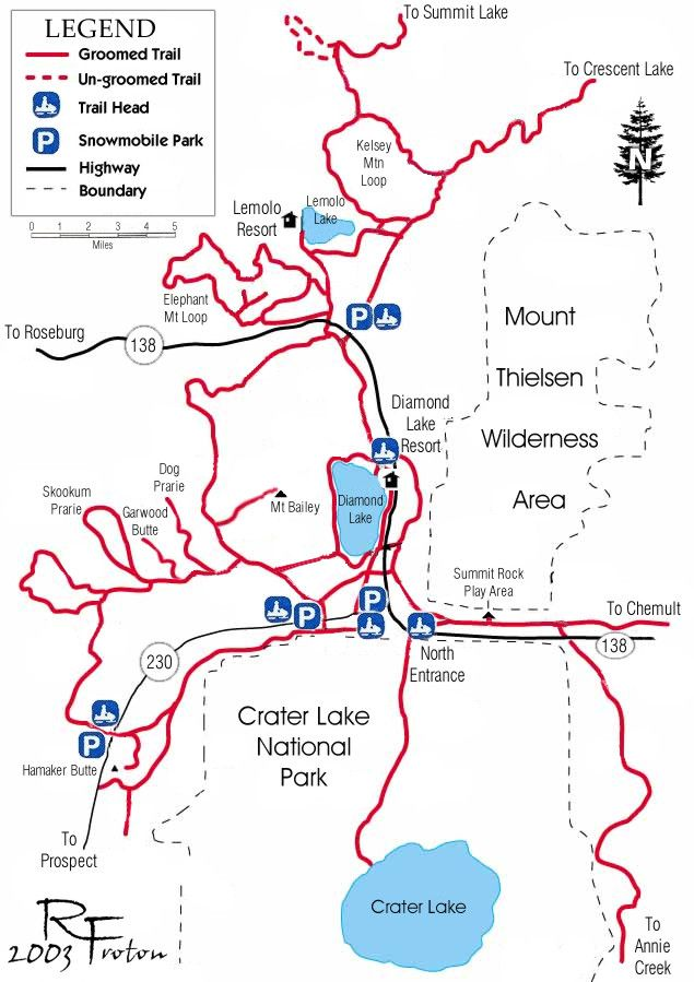 Diamond lake map snowmobiles