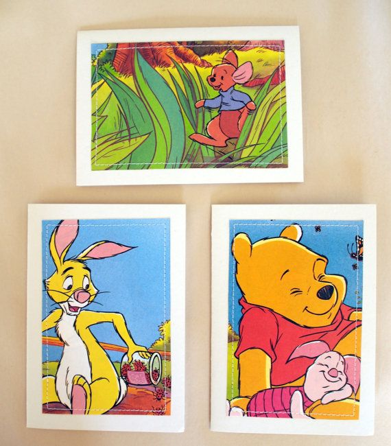 Set of 3 Winnie the Pooh Character Greeting Cards  by MagpieSailor, $9.50