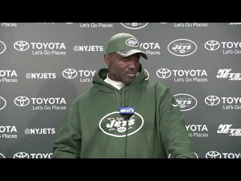 New York Jets coach Todd Bowles reacts to contract extension