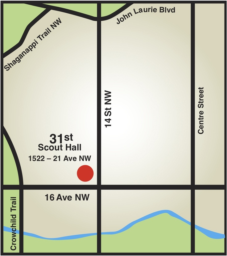 Our Scout Hall is located in the inner Northwest on 21st Ave. NW just west of 14th St. NW