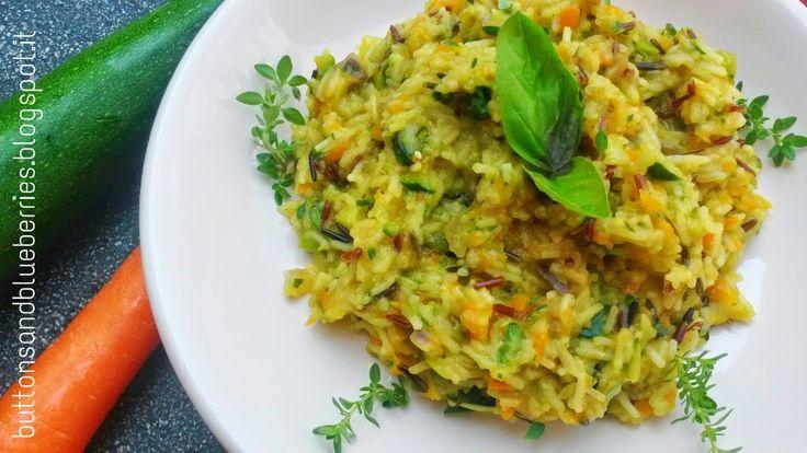Easy Vegan: Risotto arcobaleno con tre tipi di riso e verdure