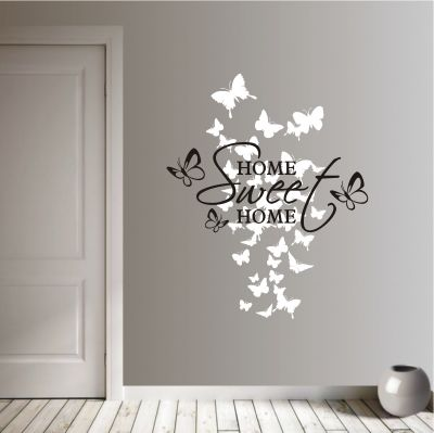 deko-shop-24.de-Wandtattoo-Home Sweet Home 2-farbig