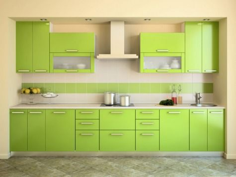 Салатовая кухня - фото и дизайн кухни салатового цвета